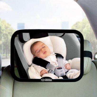กระจกมองหลังติดเบาะรถยนต์  Back seat Mirror - Prince&Princess