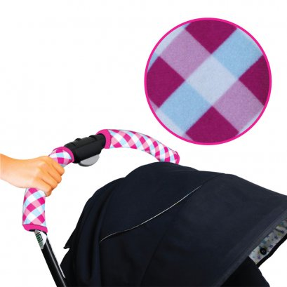 ปลอกมือจับรถเข็น Stroller Handlebar Cover - Gingham Printed - Prince&Princess