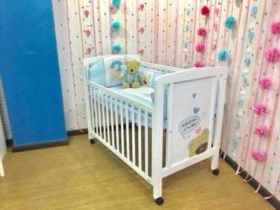 KITSO - เตียงเด็กอ่อนลายหมี