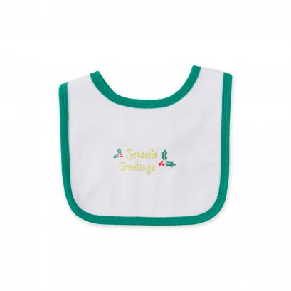 Auka Bib Season's Greetings (0-12m)