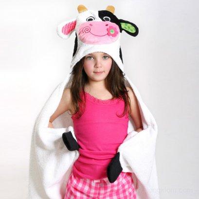 ผ้าขนหนูเช็ดตัวเด็กโต+Hoodคลุมศีรษะ zoocchini