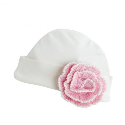 Bamboo New Born Hat - Pink Bow
