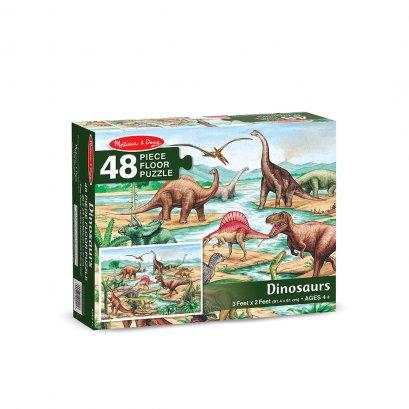 Melissa & Doug  Floor Puzzle Dinosaur ( 48 Pcs )