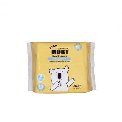 ผ้าเช็ดเอนกประสงค์ Baby Dry Wipes - Baby Moby  บรรจุ 30 แผ่น (ขนาด 20X20 cm.)