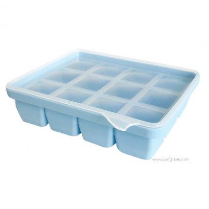 ถาดแช่แข็งอาหารซิลิโคน (สีฟ้า 12 ช่อง) ขนาดช่องละ 30 ml - MONEE