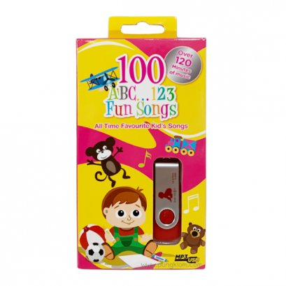 100 ABC 123 FUN SONGS - MP3 USB