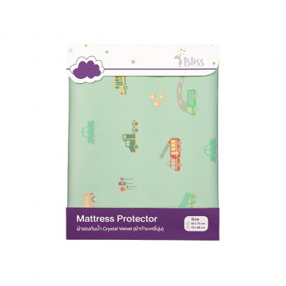 Bliss Mattress Protector 70x88 cm - Car Crazy