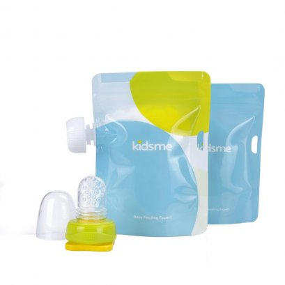 Kidsme Reusable Food Pouch with Adaptor Set 2 Pack