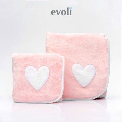 ผ้าห่มเด็ก Baby Huggable Blanket สีชมพู Evoli (0m+)
