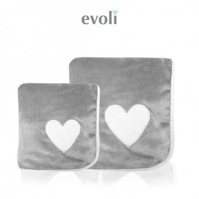 ผ้าห่มเด็ก Baby Huggable Blanket สีเทา Evoli (0m+)