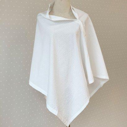 ผ้าคลุมให้นม รุ่น Cotton สีขาวลายขวาง Beanie Nap