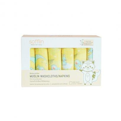 Sofflin ผ้าอาบน้ำ / ผ้าเช็ดหน้าใยไผ่สัมผัสนุ่ม 12 นิ้ว ลาย Luna Dream (6pcs)