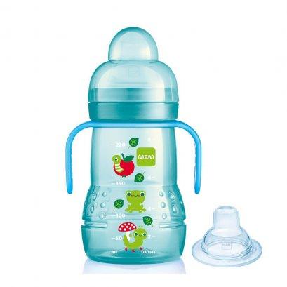 MAM ถ้วยหัดดื่ม-จุกกันสำลัก BPAfree พร้อมมือจับ 8 oz (220ml)  เหมาะสำหรับเด็ก 4 เดือนขึ้นไป
