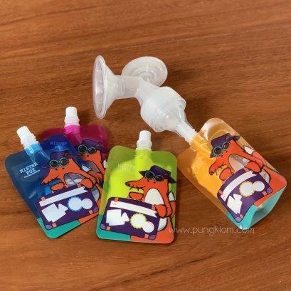 ถุงเก็บน้ำนม รุ่น Mister fox Plus 5 ออนซ์ บรรจุ 20 ถุง