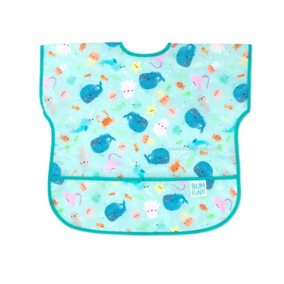 Bumkins Junior Bib ผ้ากันเปื้อนเด็ก 1-3 ขวบ ลาย Ocean Life