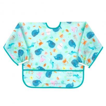 Bumkins Sleeved Bib ผ้ากันเปื้อนเด็ก 6-24 เดือน ลาย Ocean Life