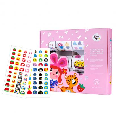 Temporary Tattoos & Nail Stickers - Pink