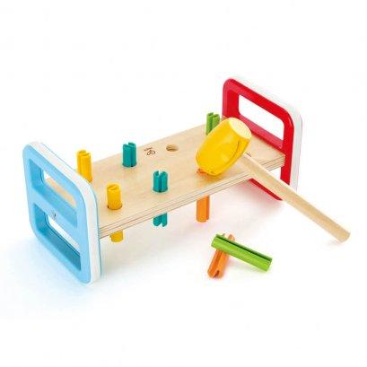 โต๊ะฝึกกล้ามเนื้อมือ ทุบๆ ตอกๆ Rainbow Pounder - Hape (12m+)