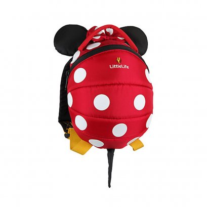 LittleLife Toddler Backpack Disney Minnie (Red)