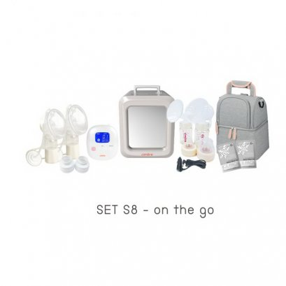 Cimilre S8 On the go -  เครื่องปั๊มนมพร้อมระบบอบฆ่าเชื้อยูวีเช็ท All in one