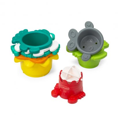 ของเล่นถ้วยรูปสัตว์ทะเล Stack O' Fun - Infantino