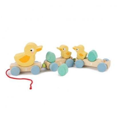 ของเล่นไม้ Pull Along Ducks - Tender leaf toys