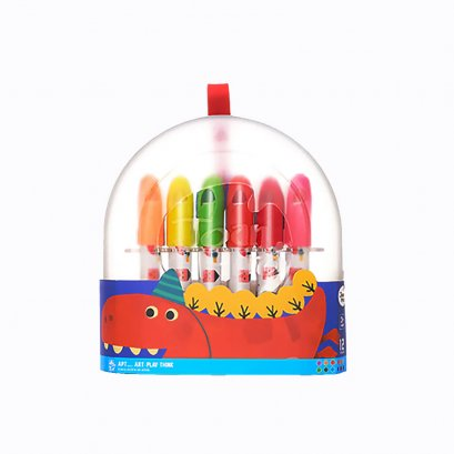 Joan Miro Transparent Plastic box Silky Crayon 12 Colors