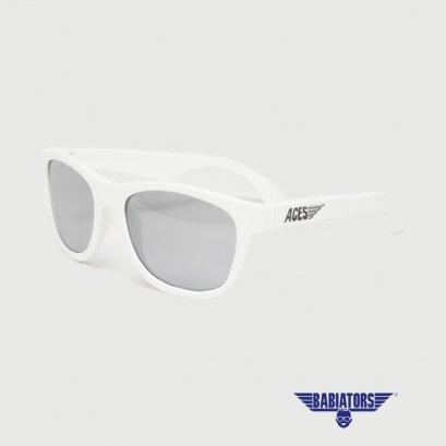แว่นตากันแดดเด็ก ACES by BABIATORS 7-14 ปี สี Wicked White with Mirrored Lenses