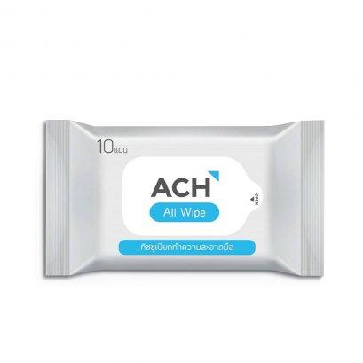 ACH ทิชชู่เปียกทำความสะอาดมือ Food grade แอลกอฮอล์75%