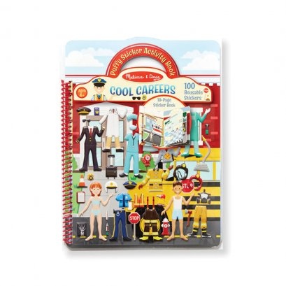 Puffy Reusable Sticker Book -  Cool Careers (4y+) (28 x 21 x 1 cm)