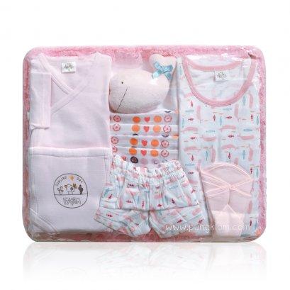 Baby Auka ชุดตะกร้าของขวัญเด็กอ่อน (0-6m)
