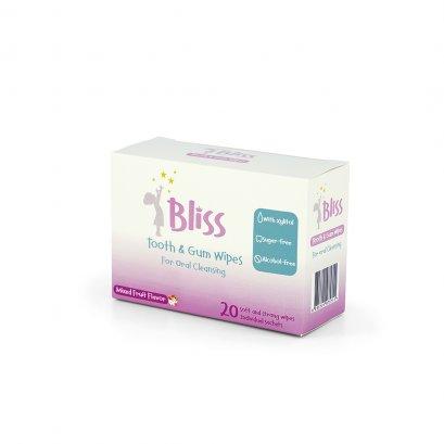 Bliss ผ้าทำความสะอาดช่องปาก Tooth & Gum Wipes บรรจุ 20 ชิ้น