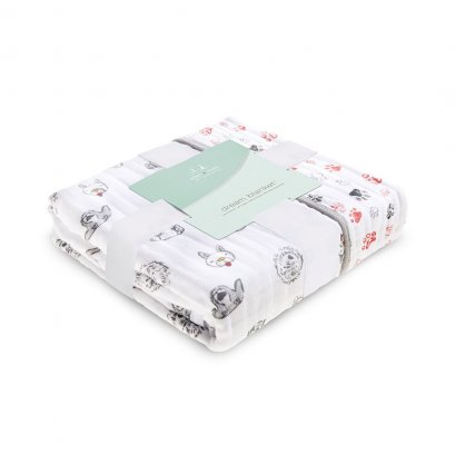 ผ้าห่ม Aden + Anais year of dog puppies classic dream blankets
