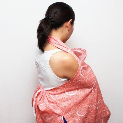 ผ้าคลุมให้นม Beanie Nap รุ่นมีผ้าปิดหลัง ลาย Ryoko (เรียวโกะ)
