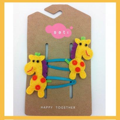 Sati กิ๊บติดผมเด็กหญิง Hairclip - Circus Jolly Giraff