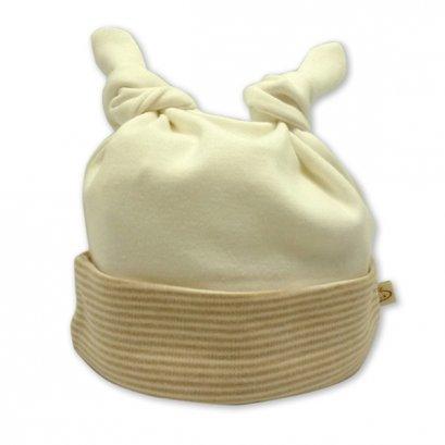 Babymio หมวกเด็กสีครีม ออร์แกนิค คอตตอน