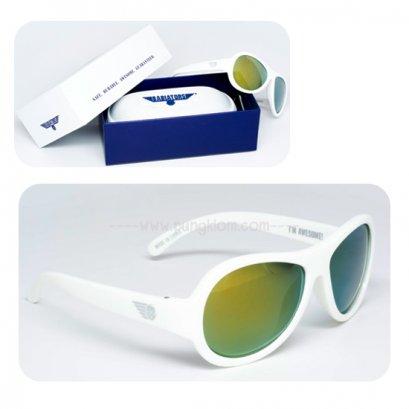 แว่นตากันแดดเด็ก BABIATORS รุ่น Polarized 3-7 ปี สี Wicked White