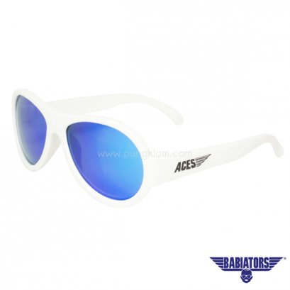 แว่นตากันแดดเด็ก ACES by BABIATORS 7-14 ปี สี Wicked White Blue Lenses