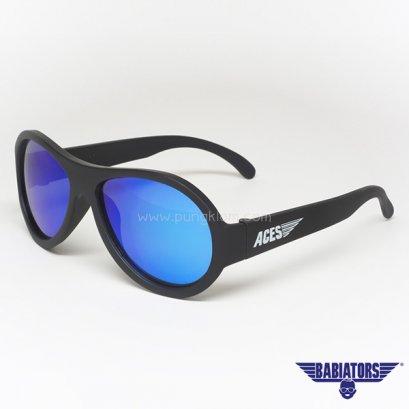 แว่นตากันแดดเด็ก ACES by BABIATORS 7-14 ปี สี Black ops Black Blue Lenses