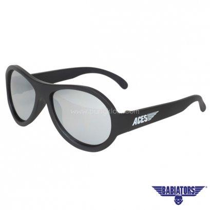 แว่นตากันแดดเด็ก ACES by BABIATORS 7-14 ปี สี Black ops Black Mirrored Lenses