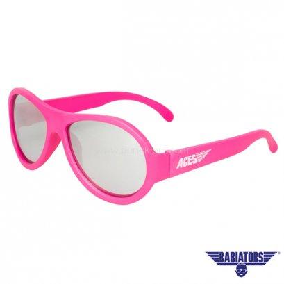 แว่นตากันแดดเด็ก ACES by BABIATORS 7-14 ปี สี Popstar Pink Mirrored Lenses