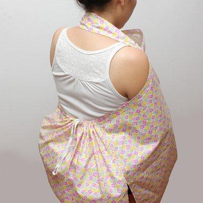 ผ้าคลุมให้นม Beanie Nap รุ่นมีผ้าปิดหลัง ลาย Bloom