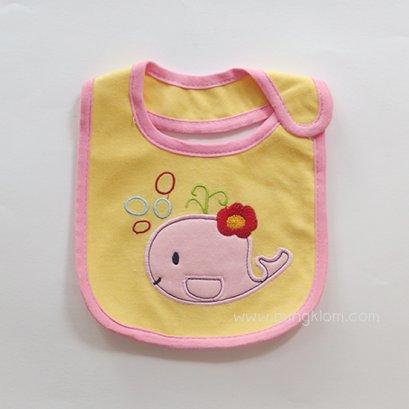 ผ้ากันเปื้อนเด็ก เนื้อผ้าคอตตอนแบบกันน้ำ