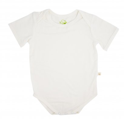 Bamboo Baby Body Suit 0-3 months (White)