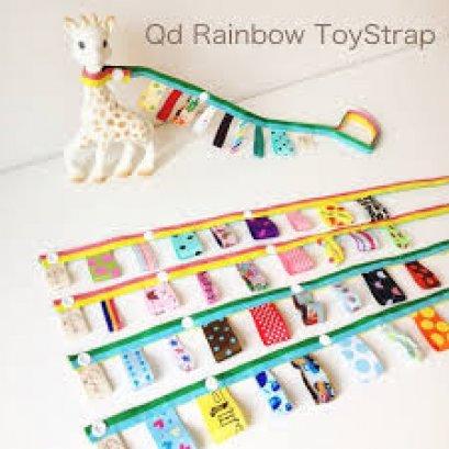 ของใช้เด็ก Qd Rainbow ToyStrap Friday - สายห้อยของเล่น