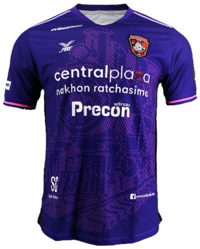 2020 Nakhonratchasima United Authentic Thailand Football Soccer League Jersey Purple Player