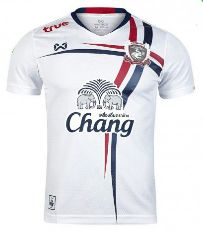 Suphanburi FC Authentic Thailand Football Soccer League Jersey White Away