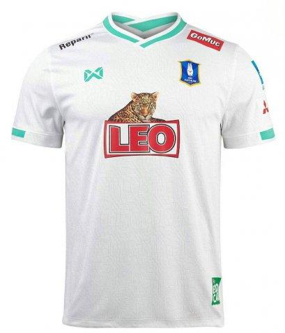 2021 Bangkok Glass BG Phatum BGPU FC Thailand Football Soccer League Jersey Shirt Away White
