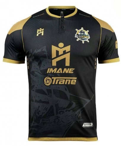 2021 Black Pearl United Authentic Thailand Futsal League Jersey Home Black Player