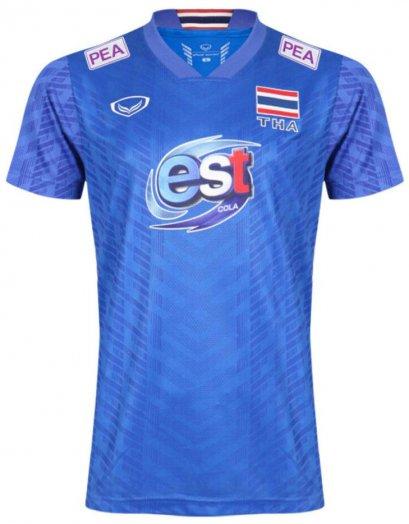 2021 Thailand Volleyball National Team Jersey Shirt Blue